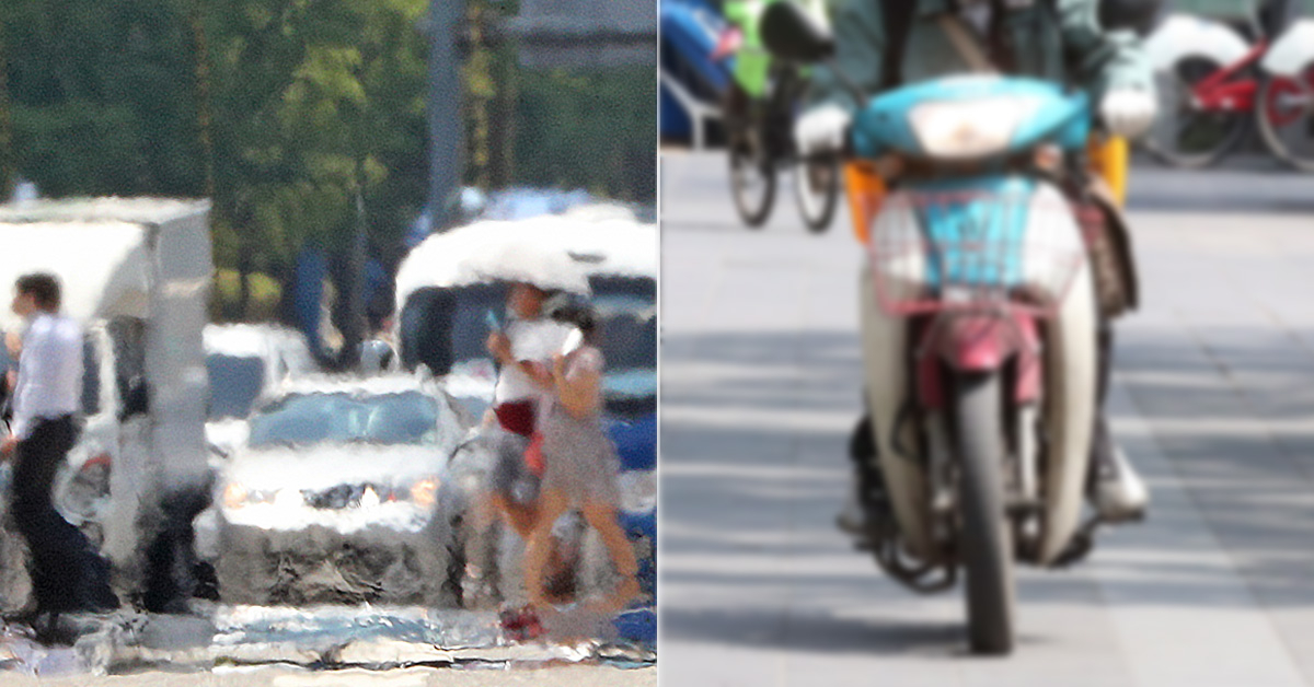 지난 1일 폭염에 휩싸인 서울 시내모습(왼쪽). (오른쪽 사진은 기사 내용과 관계 없음) [뉴스1, 중앙포토]