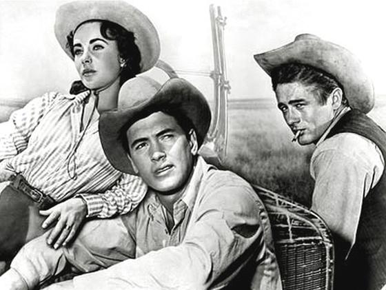 엘리자베스 테일러, 록 허드슨, 제임스 딘(왼쪽부터) 주연의 영화 '자이언트'(1956).