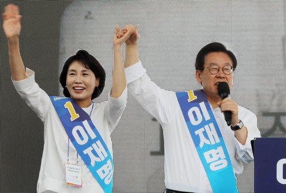 이재명 경기도지사(오른쪽)과 부인 김혜경씨. [뉴스1]