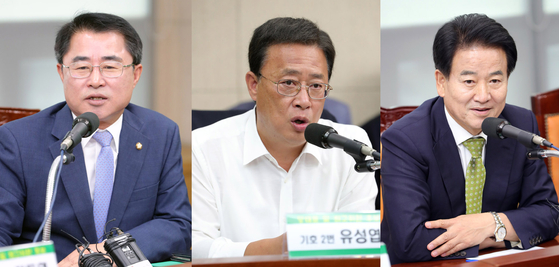 왼쪽부터 최경환ㆍ유성엽ㆍ정동영 후보(기호순) [뉴스1]
