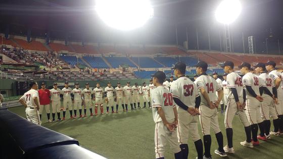 제52회 대통령배 전국고교야구대회 16강에 오른 마산용마고 선수들. 박소영 기자