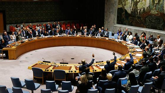 유엔 안보리 회의 모습. [중앙포토]