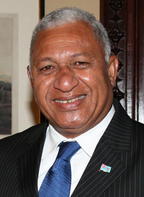 남태평양의 섬나라 피지의 프랭크 바이니마라마 총리. 인도계로 군사령관을 맡고 있다가 쿠데타로 권력을 차지했다. [위키피디아]