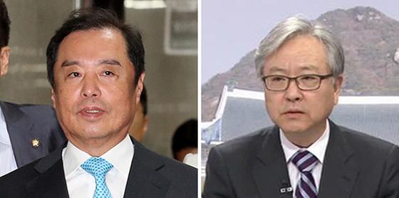 김병준(左), 홍성걸. [뉴시스]