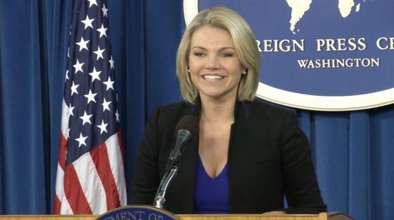 헤더 나워트 미 국무부 대변인.