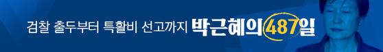 중앙일보 홈페이지에서 배너를 클릭하면 박근혜 전 대통령 재판 일지를 확인할 수 있습니다.