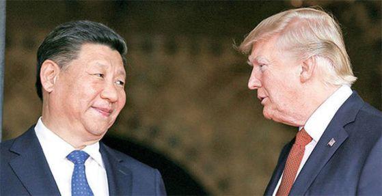 도널드 트럼프 미 대통령(오른쪽)과 시진핑 중국 국가주석. [중앙포토]