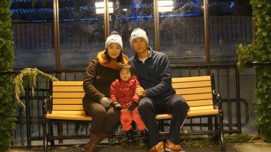남씨가 아내 새롬씨와 첫째 딸 채은이와 찍은 사진. [사진 남선우]