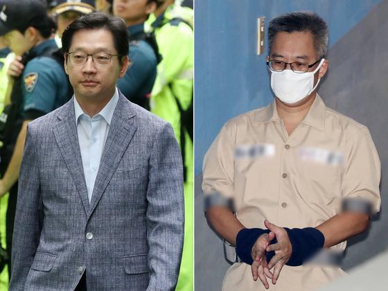 김경수 경남도지사(왼쪽)와 '드루킹' 김모씨 [뉴스1]