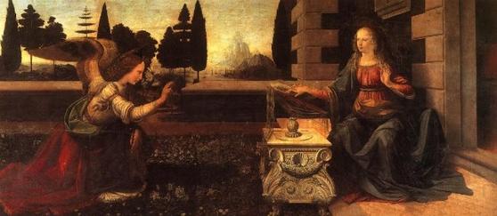 레오나르도 다빈치(1452~1519)의 작품 '수태고지'.