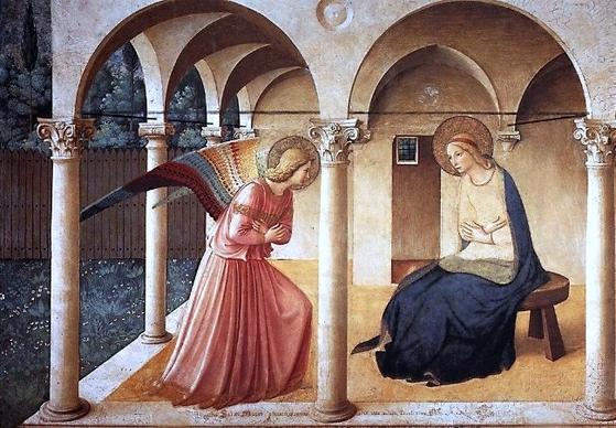이탈리아 화가 프라 안젤리코(1395~1455)의 작품 '수태고지'.