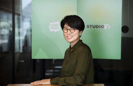 네이버 영화사업부 권미경 대표가 9일 본지와 인터뷰를 하고 있다. 권혁재 사진전문기자
