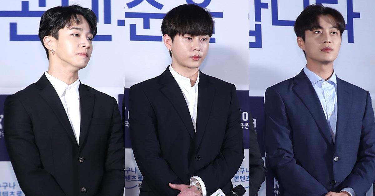 하이라이트 멤버 이기광(왼쪽부터), 용준형, 윤두준. [일간스포츠]