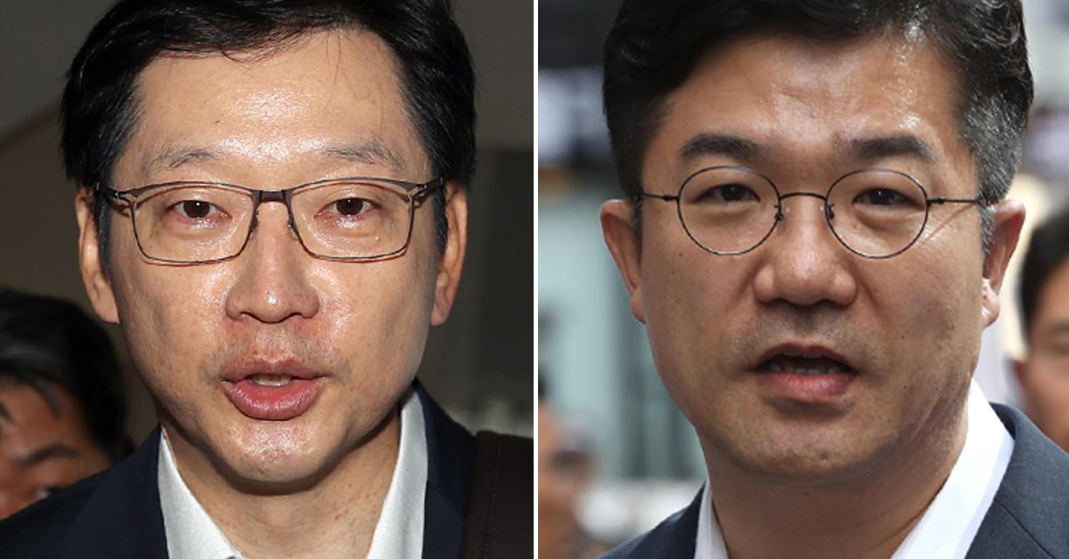 김경수 경남지사(왼쪽 사진), 송인배 청와대 정무비서관. [연합뉴스, 뉴스1]