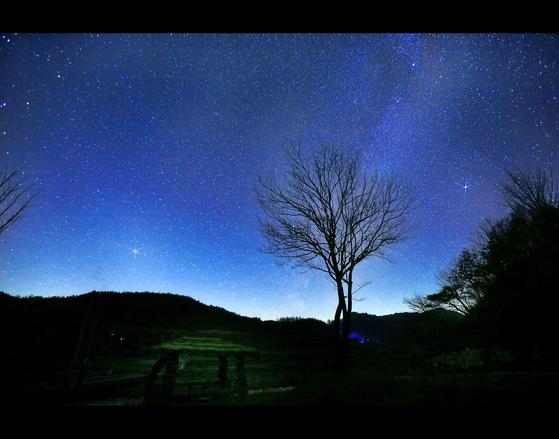 경북 영양군 밤하늘공원에서 바라본 밤하늘. [사진 영양국제밤하늘보호공원]