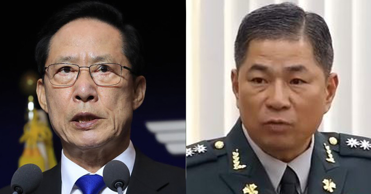 송영무 국방부 장관(왼쪽) 민병삼 대령(오른쪽) [연합뉴스]