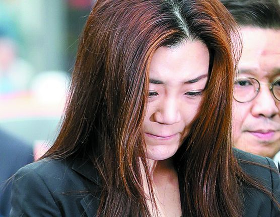 '물벼락 갑질' 논란을 빚은 조현민 전 대한항공 전무가 지난 5월 서울 강서경찰서에 출석했다. 장진영 기자