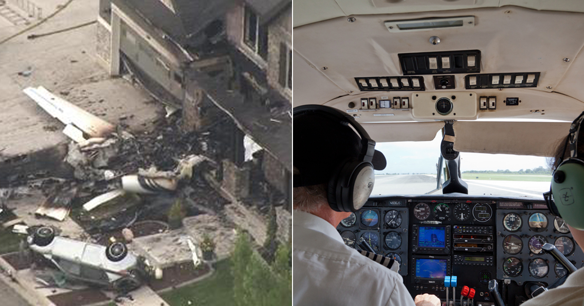 미국에서 한 남성이 부부싸움 후 경비행기 몰고 자기집에 돌진해 숨지는 사고가 발생했다(왼쪽) (오른쪽 사진은 기사 내용과 관계 없음) [AP=연합뉴스, 중앙포토]