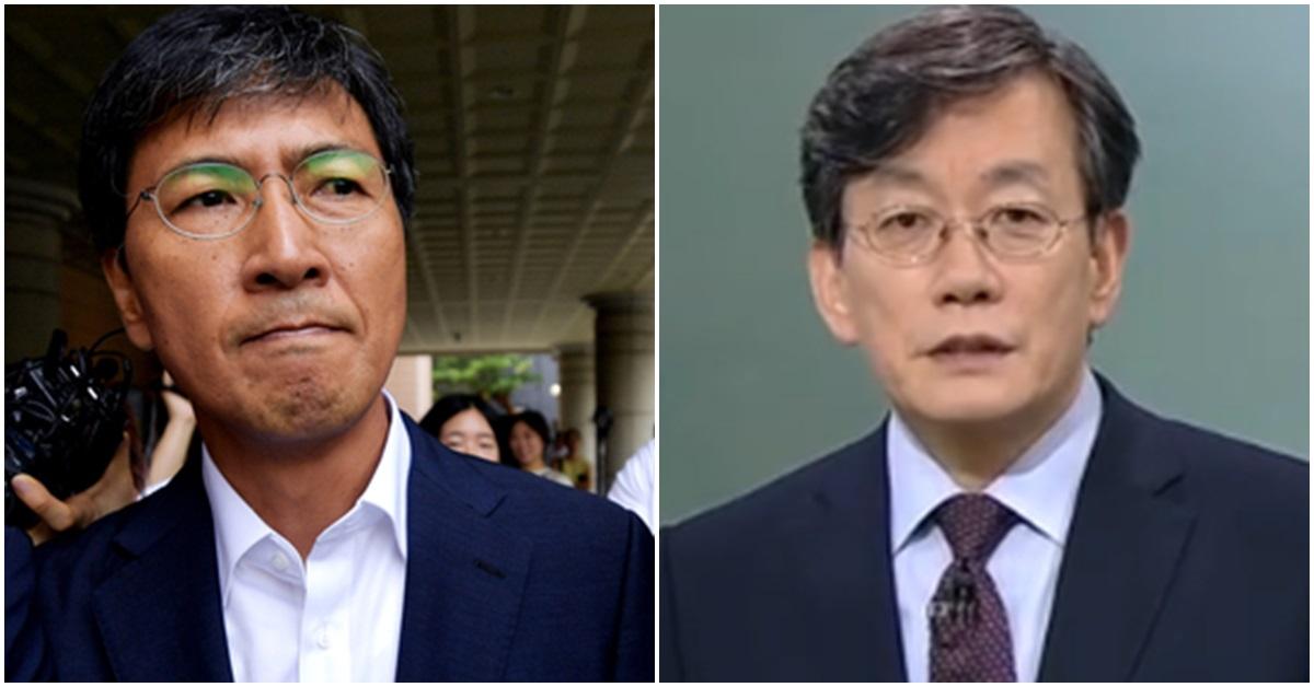 안희정 전 충남지사(왼쪽)와 손석희 앵커. [중앙포토]