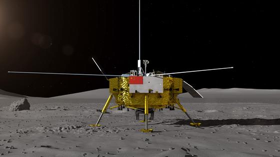 지난 15일 공개된 중국 달 탐사선 창어 4호 탐사 로봇 이미지. [AFP=연합뉴스]