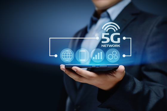 5G Network Internet Mobile Wireless Business concept.