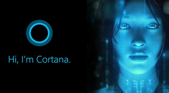 마이크로소프트(MS)의 인공지능(AI) 플랫폼인 '코타나'의 서비스 예시. [사진 마이크로소프트]