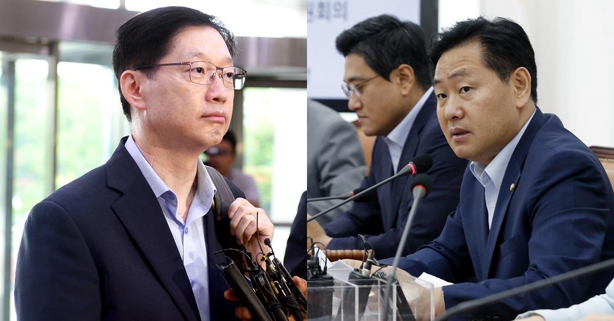 김경수 경남지사(왼쪽), 김관영 바른미래당 원내대표. [뉴스1]
