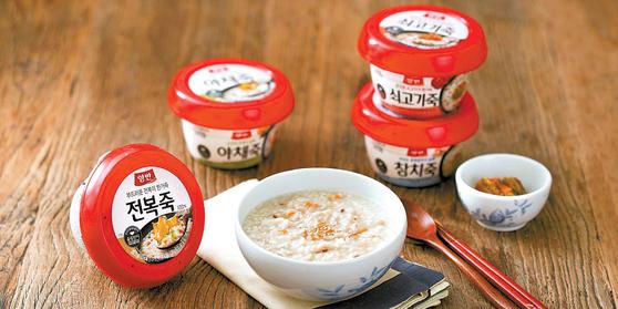 죽은 밥을 대신하는 든든한 한 끼 식사로 손색이 없다. 동원F&B는 고품질의 쌀을 원료로 만든 다양한 죽 제품을 시판 중이다. [사진 동원F&B]