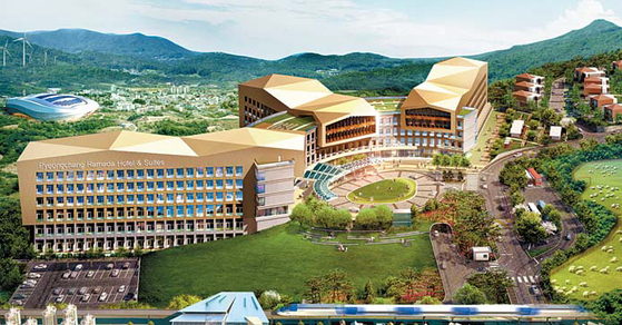 개관을 앞둔 라마다 평창 호텔&스위트 투시도. 안티에이징 힐링센터를 갖추고 있다.