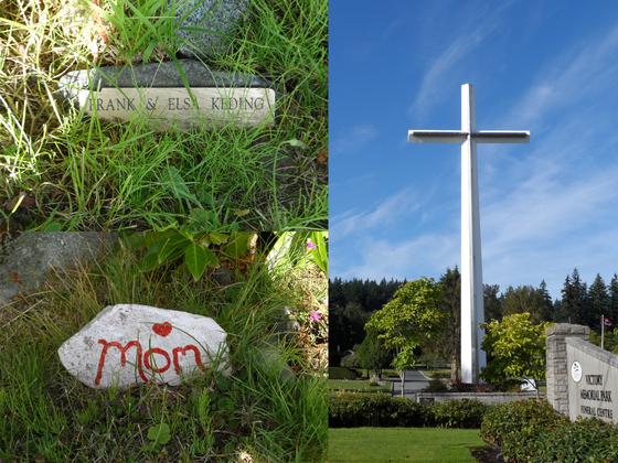 '빅토리 메모리얼 파크' 공원 묘지. 수목장을 하고 돌을 하나 놓은 모습이 인상적이다. [사진 백만기]