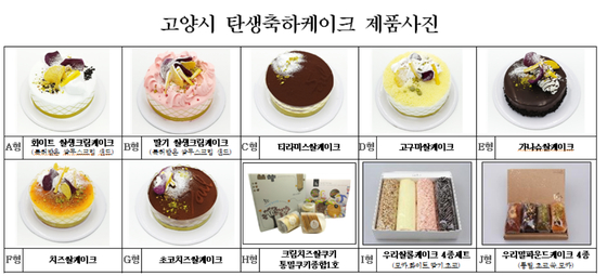 경기 고양시가 출산 축하 선물로 주는 쌀 케이크[사진 고양시청]