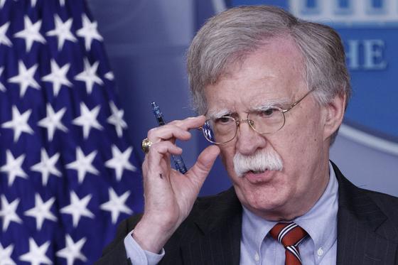 존 볼턴 미 백악관 국가안보보좌관. [EPA=연합뉴스]