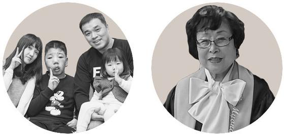 환승샷(3등) 김여은 씨 가족(왼쪽)과 최윤희 씨(오른쪽).
