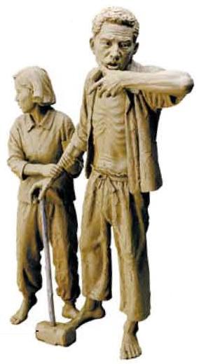 오는 12일 부평공원에 세워질 '징용노동자 동상'으로 이원석 조각가의 작품.[사진 이원석]