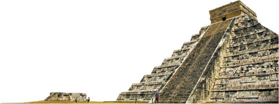 멕시코에 위치한 마야문명의 꽃인 치첸이트사 피라미드.
