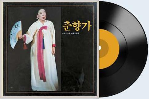 1976년 중앙일보사가 발매한 김소희의 '춘향가' 음반. 7장의 LP 전집이다.