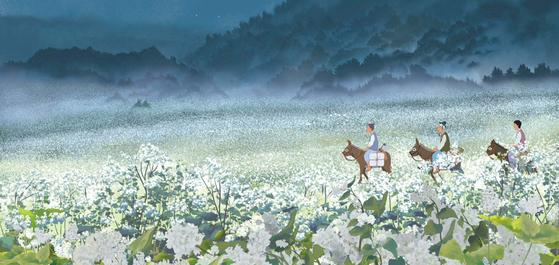 안재훈·한혜진 감독의 애니메이션 '메밀꽃, 운수 좋은 날 그리고 봄봄' 중 '메밀꽃 필 무렵'