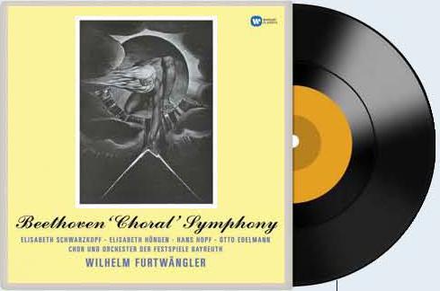 푸르트뱅글러의 베토벤 '합창' 바이로이트 실황 음반. 초반의 디자인을 살려 재발매됐다.