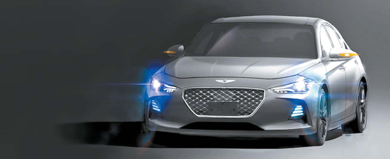 차량 실물과 매우 유사한 G70 렌더링 이미지. [사진 보배드림]