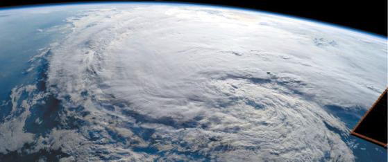 허리케인 '하비'의 위성사진. [NASA]