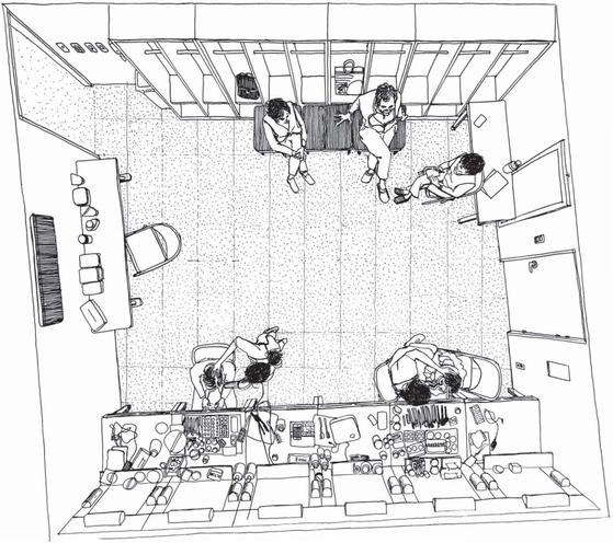 서울 서초동 예술의전당 CJ토월극장 분장실. '뜨거운 양철지붕 위의 고양이'에 출연하는 배우들이 공연 시작 1시간 전에 도착해 극 중 인물로 변신하고 있다. 안충기 기자·화가