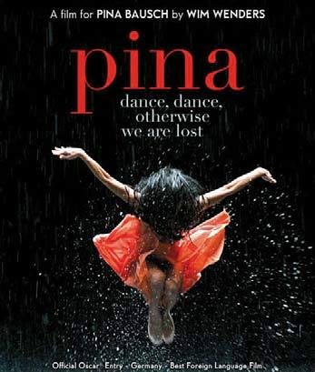 빔 벤더스 감독의 2011년작 영화 '피나' 포스터. 안무가 피나 바우쉬를 기억하기 위한 영상 다큐멘터리다.