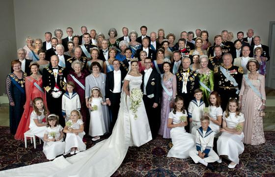 스웨덴 빅토리아 왕세녀와 다니엘 베스틀링과의 결혼식.
