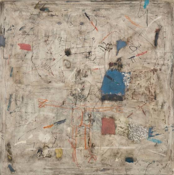 무제(1976), oil on mixed media, 100×100 cm