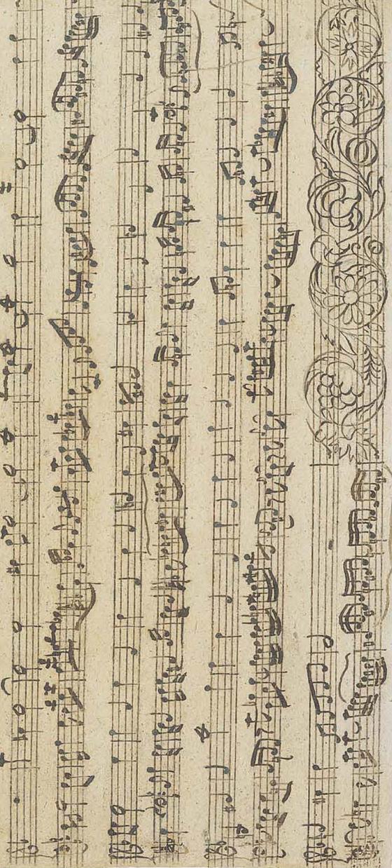 요한 제바스티안 바흐의 '푸가의 기법' BWV 1080 중 제14곡 자필 악보 두 번째 페이지. Mus.ma.autogr.Bach P200 ⓒStaatsbiblothek zu Berlin