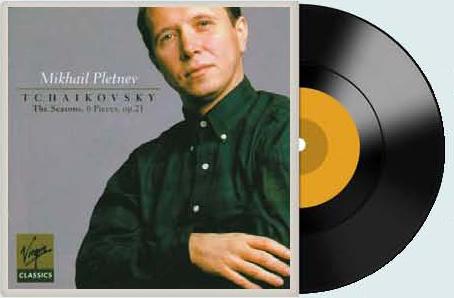 미하일 플레트네프가 연주한 차이콥스키의 '사계' 음반. 버진레코드 녹음이다.