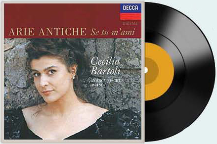 이탈리아 출신 메조소프라노 체칠리아 바르톨리의 '고풍스런 아리아' 음반.
