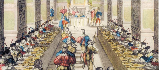 그림1 아브라함 보스, '성령기사단을 위한 왕의 만찬', 1633년