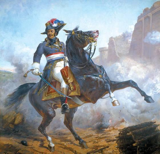 올리비에 피샤 할아버지가가 그린 알렉상드르 뒤마. 유럽과 미국 통틀어 4성 장군 자리에 오른 첫 흑인이다. 뒤마 박물관 소장. [사진 영림카디널]