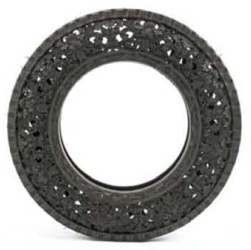 'Untitled(Carved Car Tyre)'(2010), Hand carved car tyre, Ø71 x 14cm